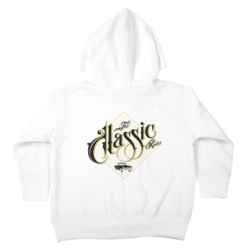 Classic Rules Kids Toddler Zip-Up Hoody by DOMINATE'S Artist Shop