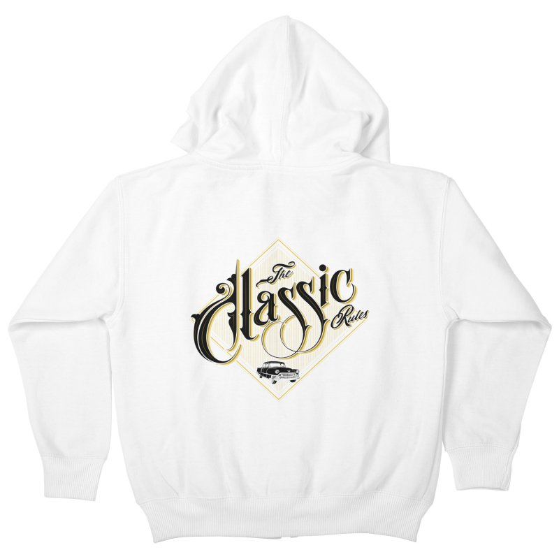 Classic Rules Kids Zip-Up Hoody by DOMINATE'S Artist Shop