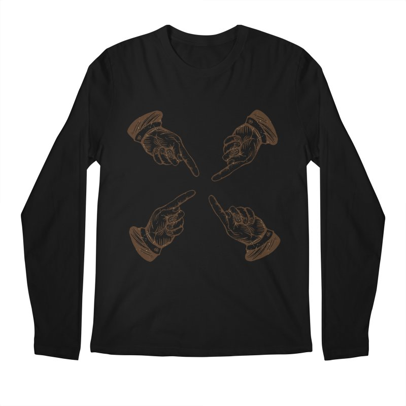 Who to blame? Men's Longsleeve T-Shirt by DOMINATE'S Artist Shop