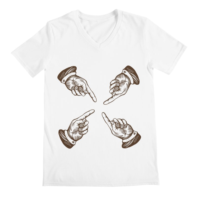 Who to blame? Men's V-Neck by DOMINATE'S Artist Shop