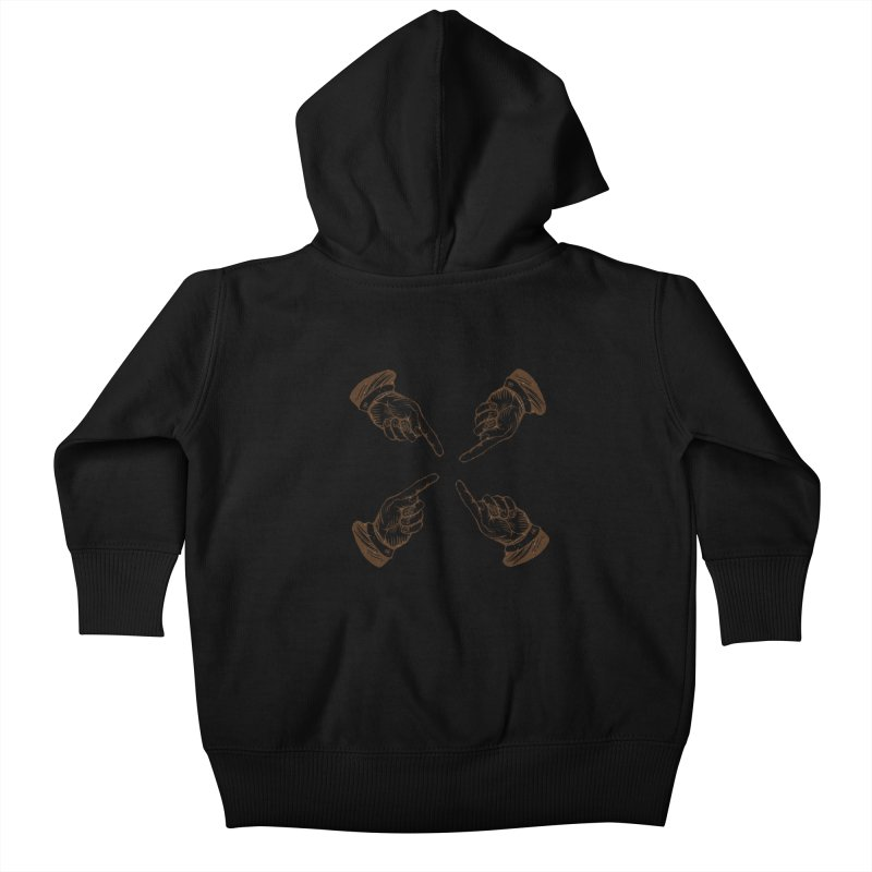 Who to blame? Kids Baby Zip-Up Hoody by DOMINATE'S Artist Shop