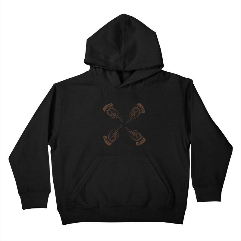 Who to blame? Kids Pullover Hoody by DOMINATE'S Artist Shop