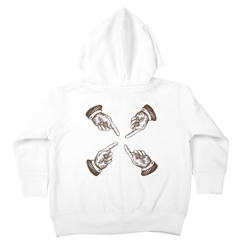 Who to blame? Kids Toddler Zip-Up Hoody by DOMINATE'S Artist Shop