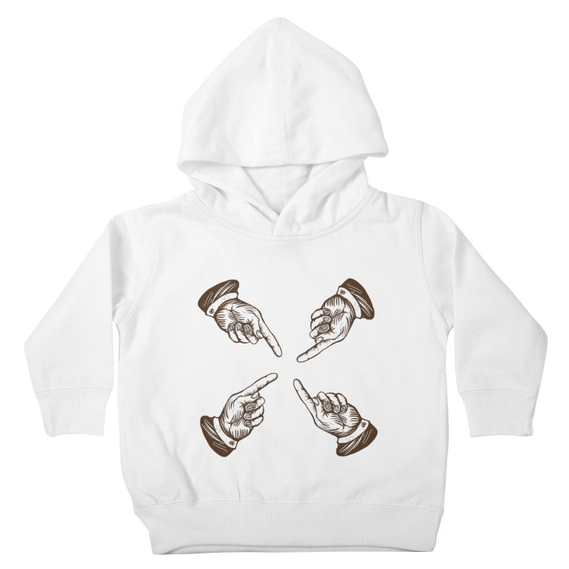 Who to blame? Kids Toddler Pullover Hoody by DOMINATE'S Artist Shop