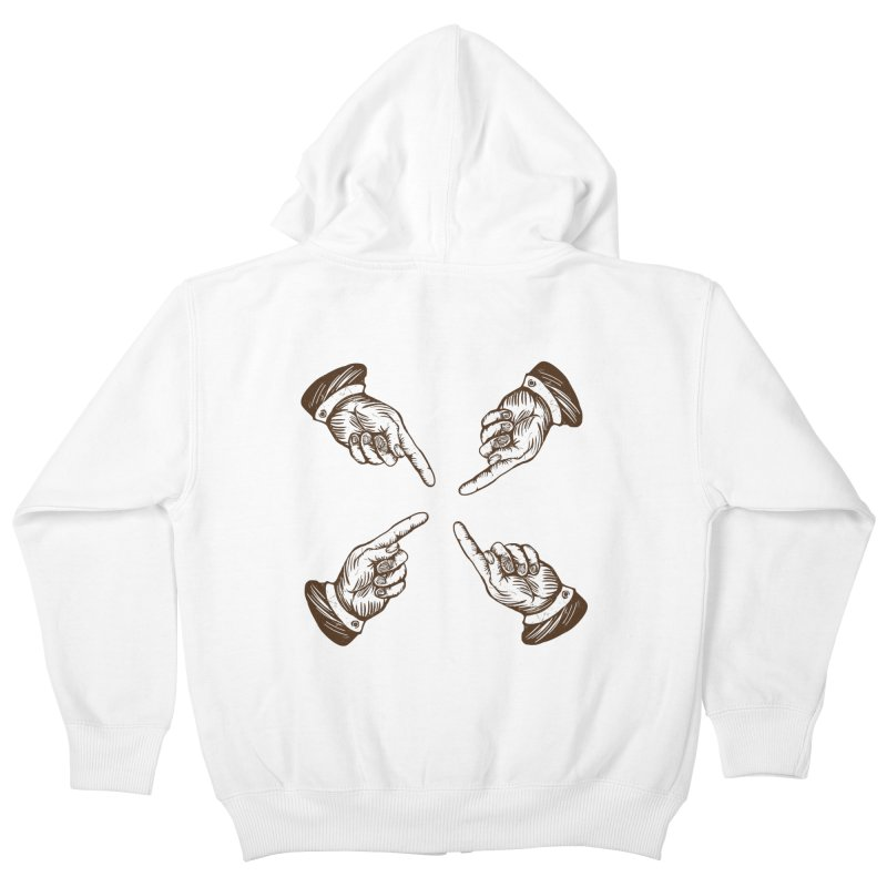 Who to blame? Kids Zip-Up Hoody by DOMINATE'S Artist Shop