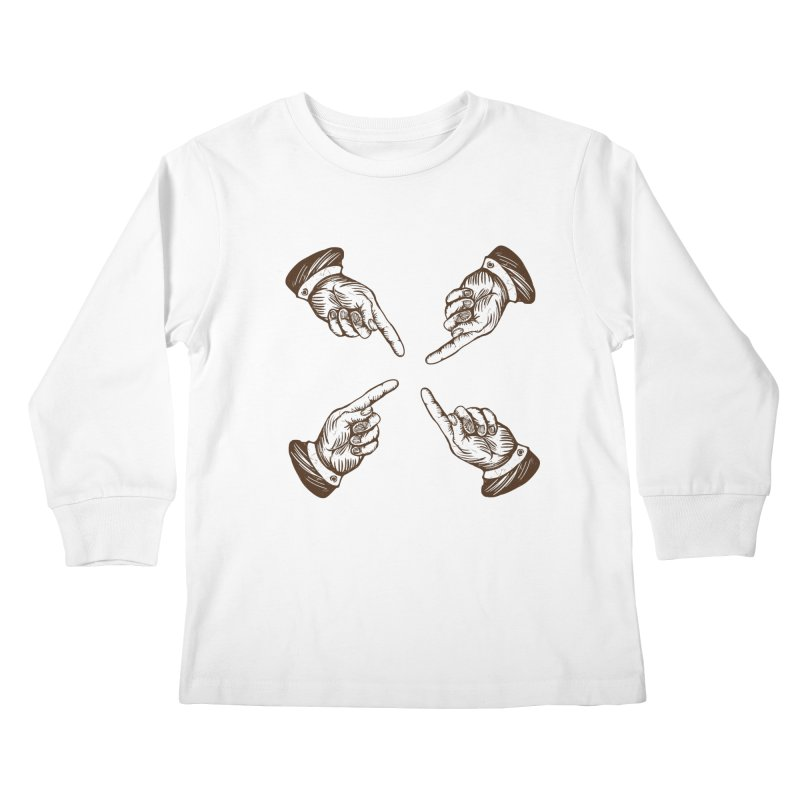 Who to blame? Kids Longsleeve T-Shirt by DOMINATE'S Artist Shop