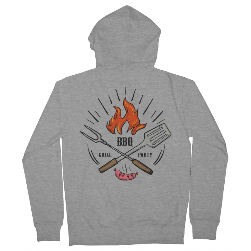 BBQ Time! Men's Zip-Up Hoody by DOMINATE'S Artist Shop