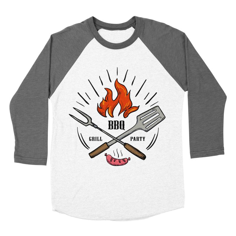 BBQ Time! Women's Baseball Triblend T-Shirt by DOMINATE'S Artist Shop