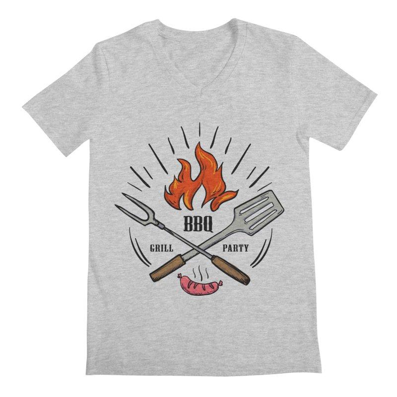 BBQ Time! Men's V-Neck by DOMINATE'S Artist Shop