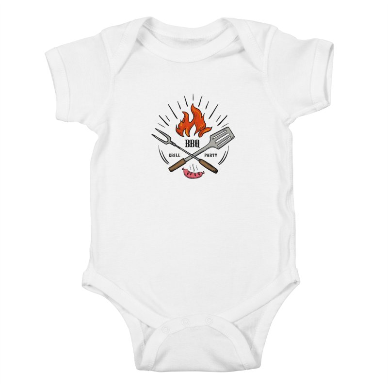 BBQ Time! Kids Baby Bodysuit by DOMINATE'S Artist Shop
