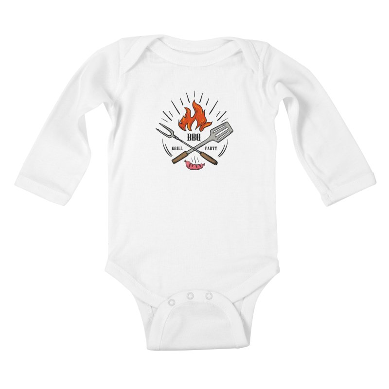 BBQ Time! Kids Baby Longsleeve Bodysuit by DOMINATE'S Artist Shop