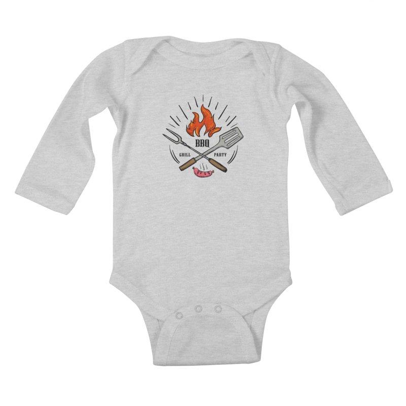 BBQ Time! Kids Baby Longsleeve Bodysuit by DOMINATE'S Artist Shop