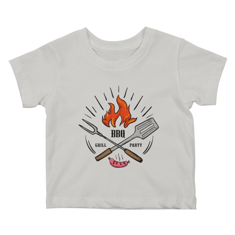 BBQ Time! Kids Baby T-Shirt by DOMINATE'S Artist Shop