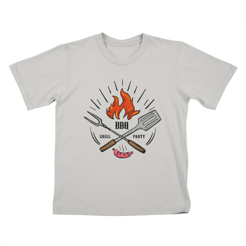 BBQ Time! Kids T-shirt by DOMINATE'S Artist Shop