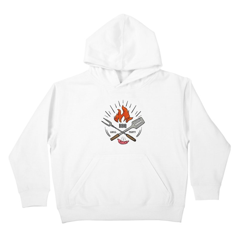 BBQ Time! Kids Pullover Hoody by DOMINATE'S Artist Shop