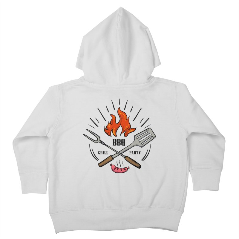 BBQ Time! Kids Toddler Zip-Up Hoody by DOMINATE'S Artist Shop