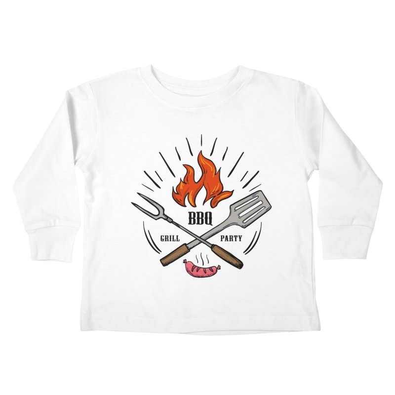 BBQ Time! Kids Toddler Longsleeve T-Shirt by DOMINATE'S Artist Shop