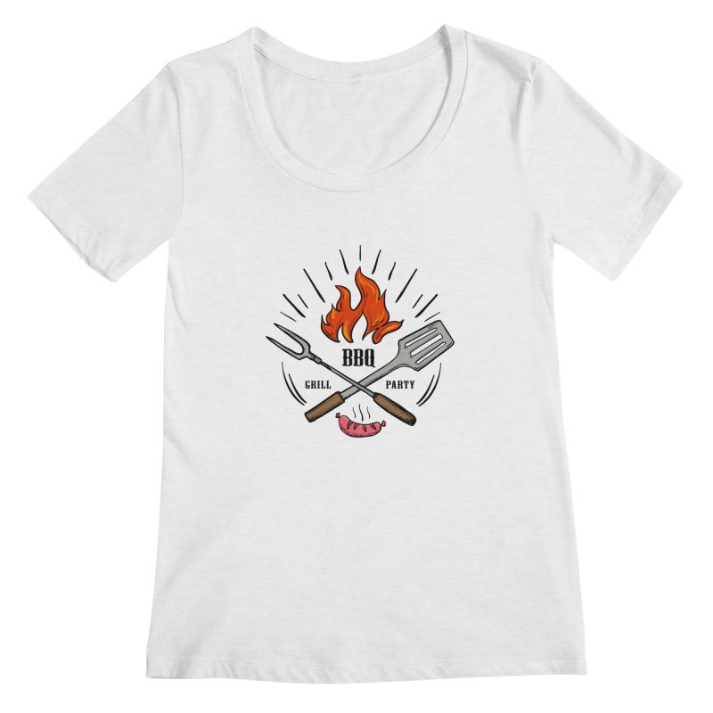BBQ Time! Women's Scoopneck by DOMINATE'S Artist Shop
