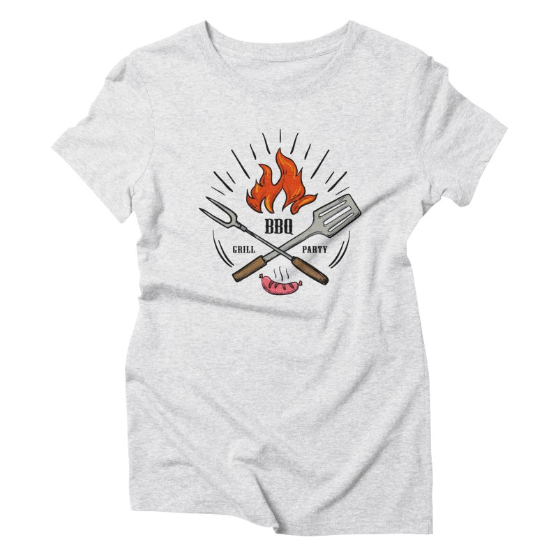 BBQ Time! Women's Triblend T-Shirt by DOMINATE'S Artist Shop