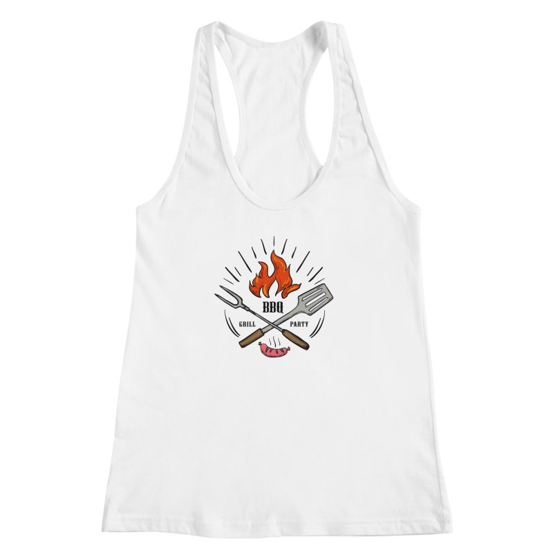 BBQ Time! Women's Racerback Tank by DOMINATE'S Artist Shop