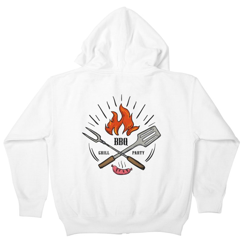 BBQ Time! Kids Zip-Up Hoody by DOMINATE'S Artist Shop