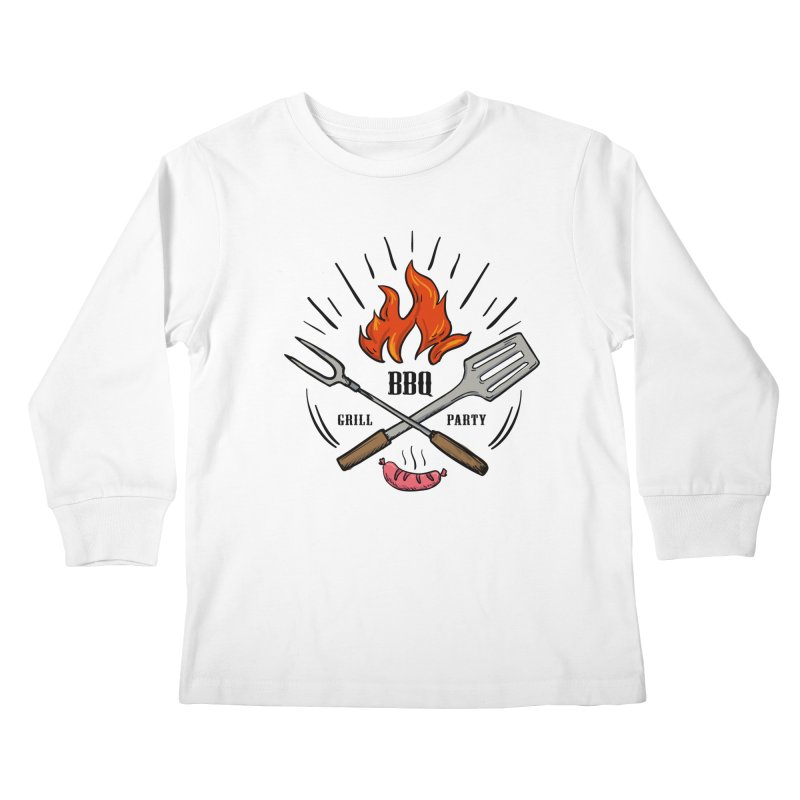 BBQ Time! Kids Longsleeve T-Shirt by DOMINATE'S Artist Shop