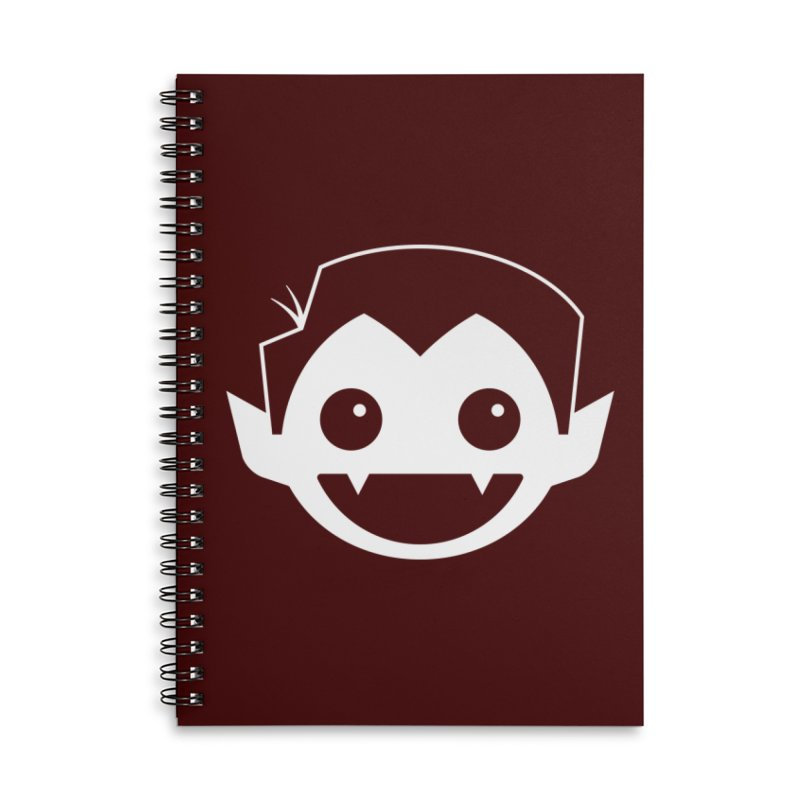 DRACULAD Logo-White Accessories Notebook by DRACULAD Shop