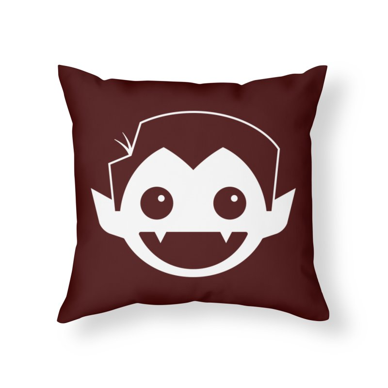 DRACULAD Logo-White Home Throw Pillow by DRACULAD Shop