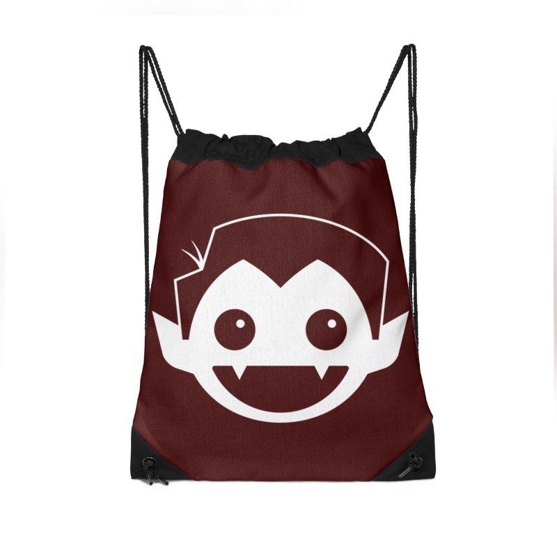 DRACULAD Logo-White Accessories Drawstring Bag Bag by DRACULAD Shop