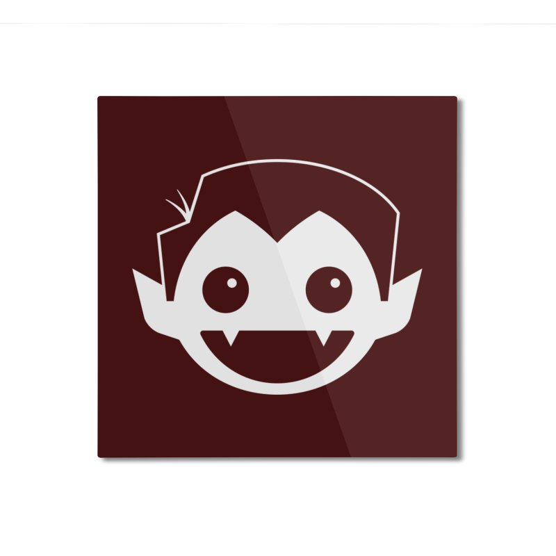 DRACULAD Logo-White Home Mounted Aluminum Print by DRACULAD Shop