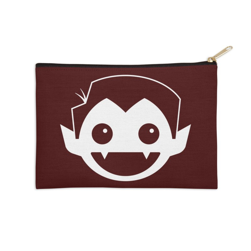 DRACULAD Logo-White Accessories Zip Pouch by DRACULAD Shop