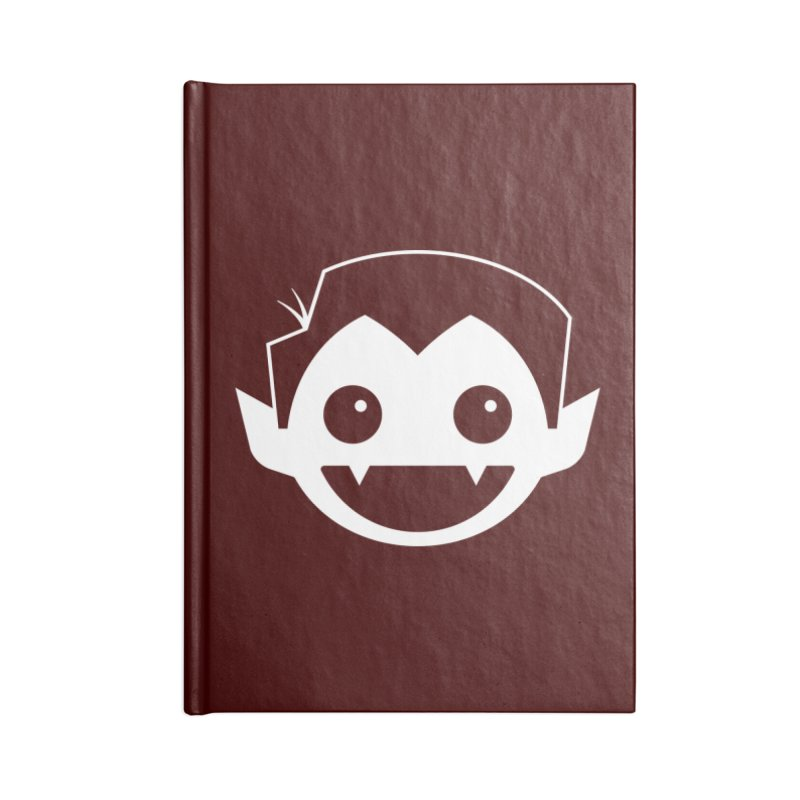DRACULAD Logo-White Accessories Blank Journal Notebook by DRACULAD Shop