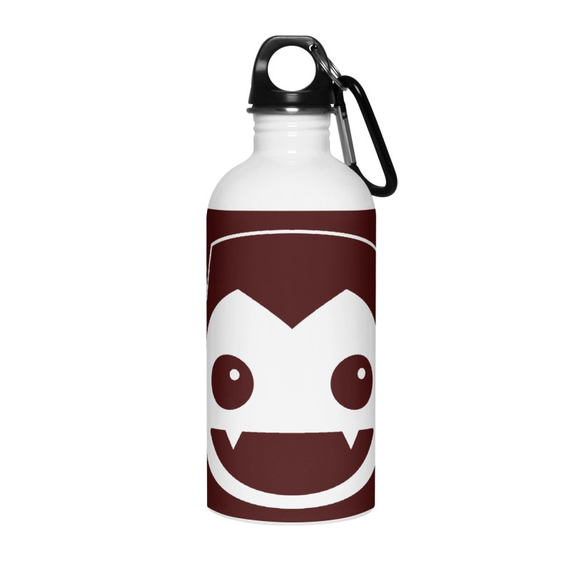 DRACULAD Logo-White Accessories Water Bottle by DRACULAD Shop