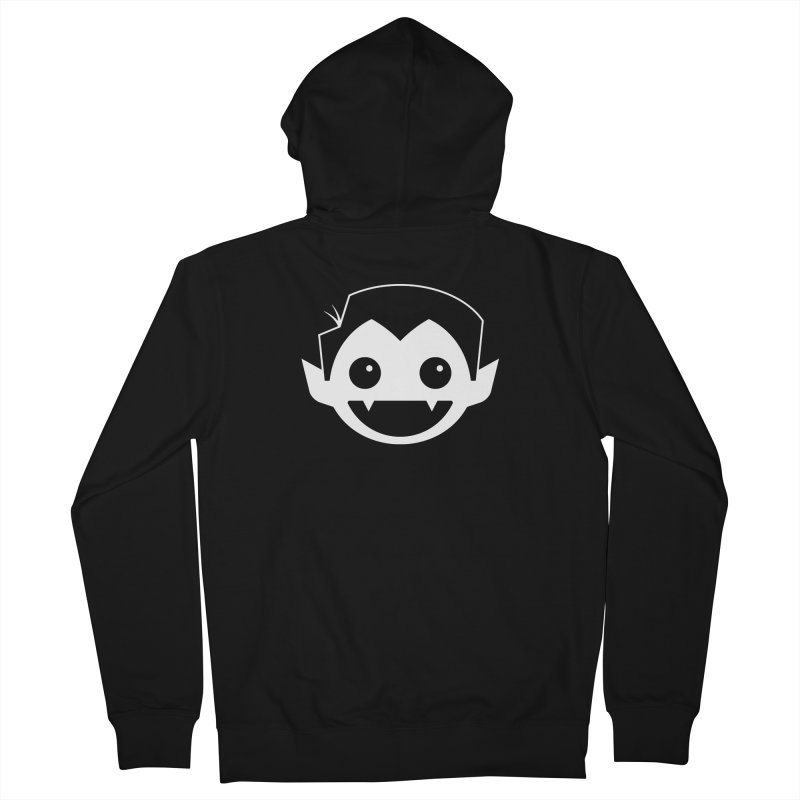 DRACULAD Logo-White Women's French Terry Zip-Up Hoody by DRACULAD Shop