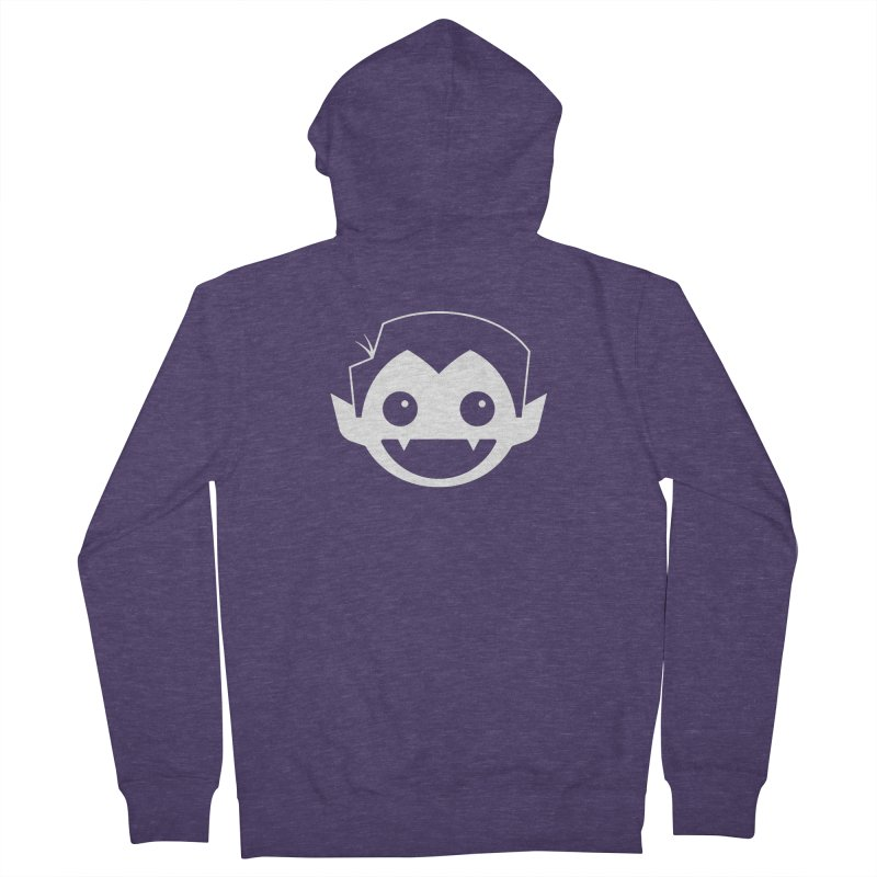 DRACULAD Logo-White Men's French Terry Zip-Up Hoody by DRACULAD Shop
