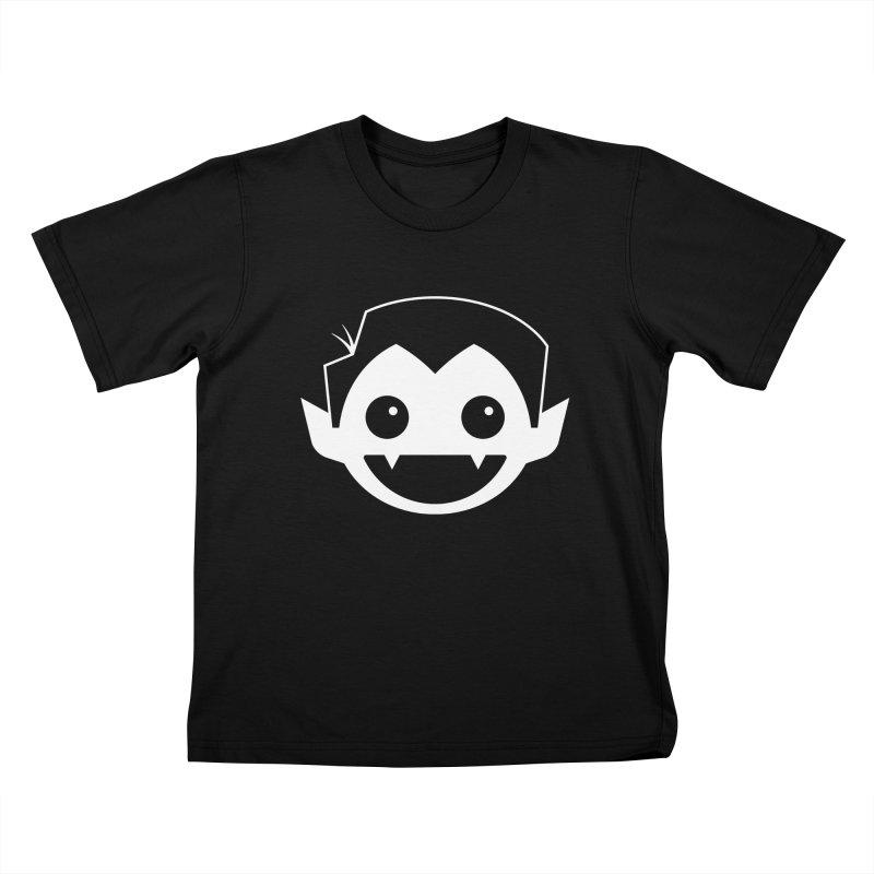DRACULAD Logo-White Kids T-Shirt by DRACULAD Shop