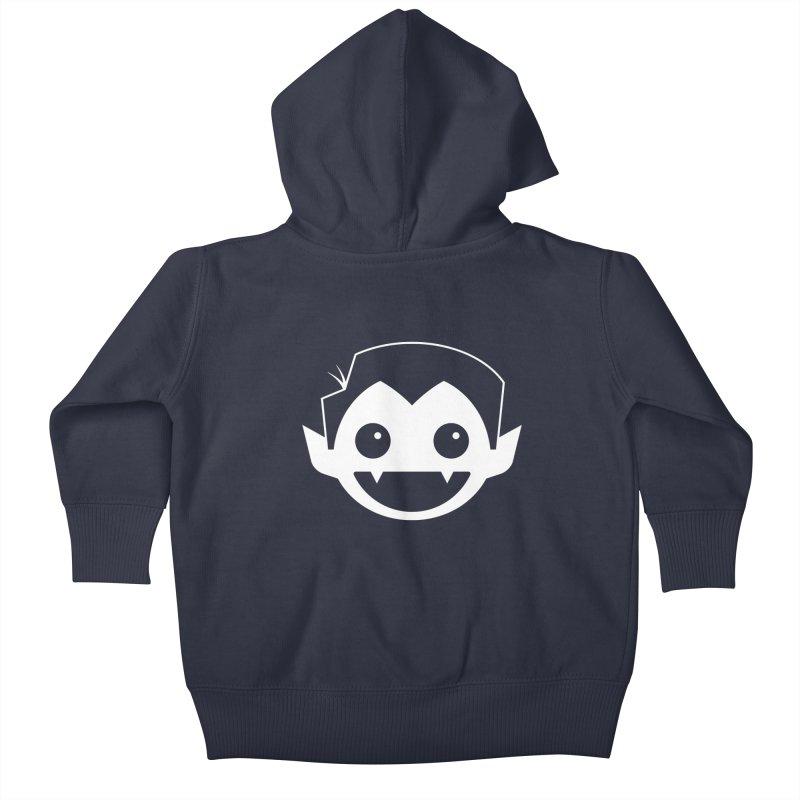 DRACULAD Logo-White Kids Baby Zip-Up Hoody by DRACULAD Shop