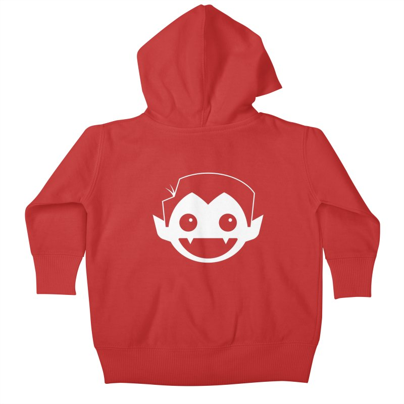 DRACULAD Logo-White Kids Baby Zip-Up Hoody by DRACULAD Shop
