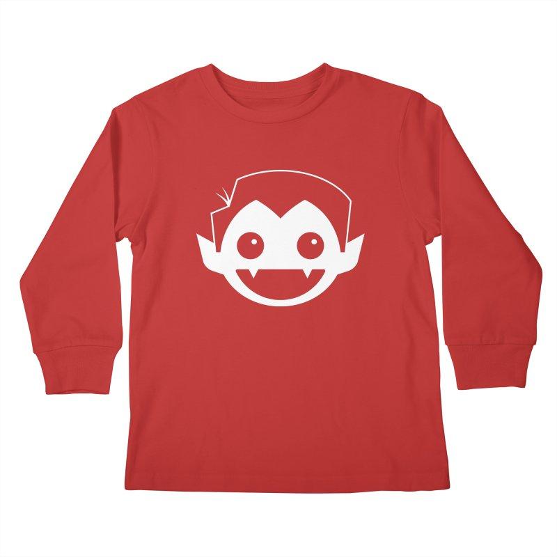 DRACULAD Logo-White Kids Longsleeve T-Shirt by DRACULAD Shop