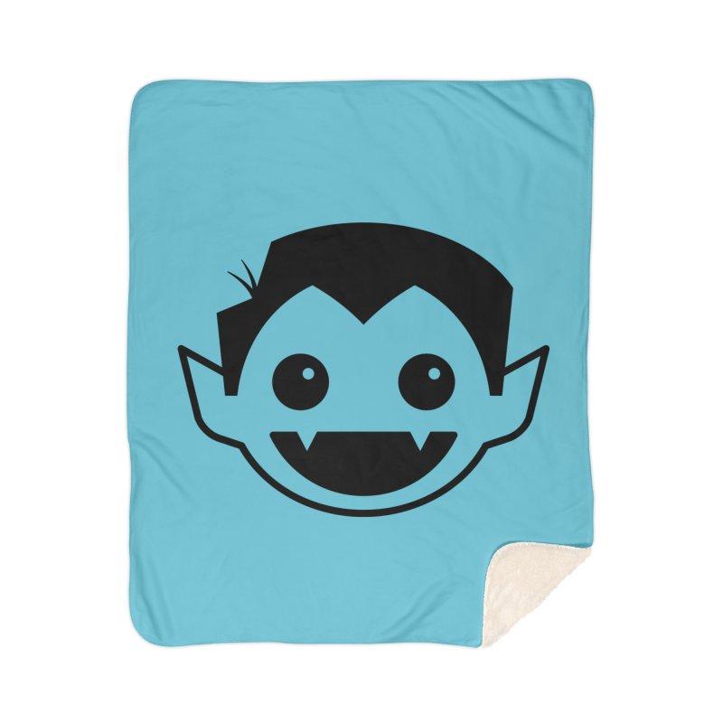 DRACULAD Logo-Black Home Sherpa Blanket Blanket by DRACULAD Shop