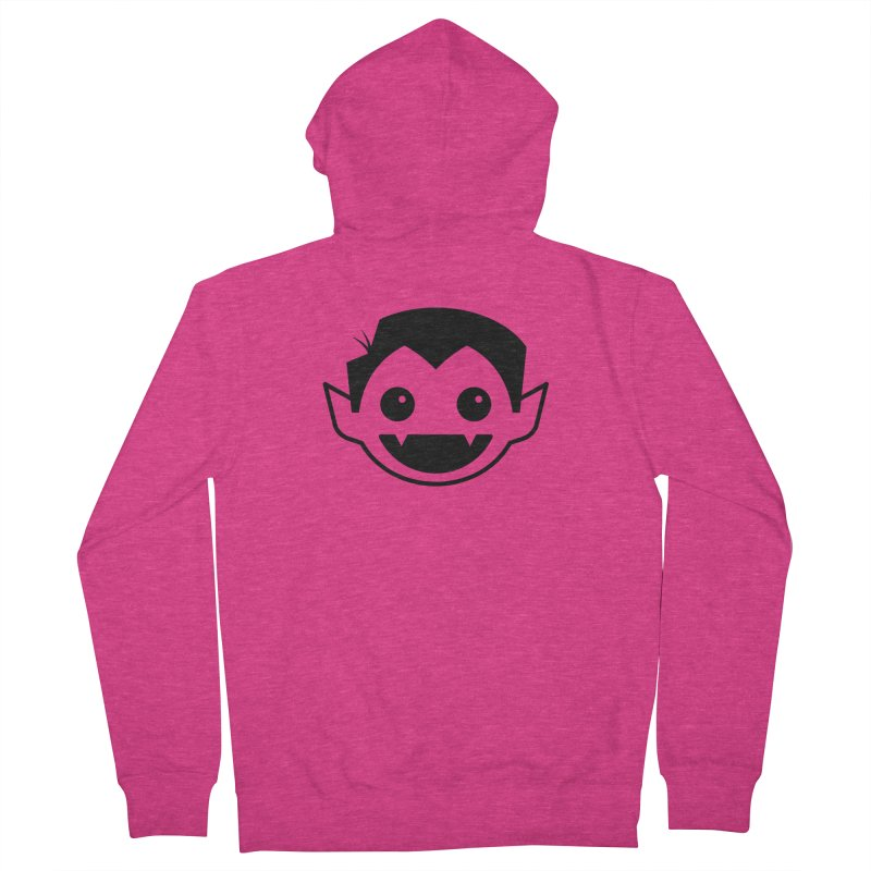 DRACULAD Logo-Black Women's French Terry Zip-Up Hoody by DRACULAD Shop