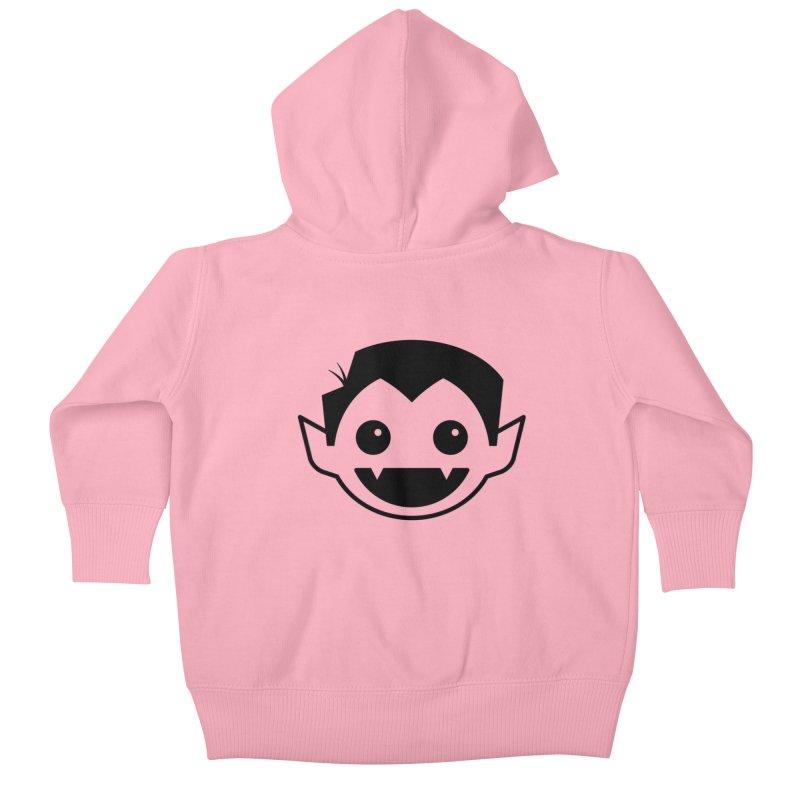 DRACULAD Logo-Black Kids Baby Zip-Up Hoody by DRACULAD Shop
