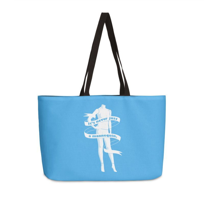 It's Never Just A Mannequin-White Accessories Bag by DRACULAD Shop
