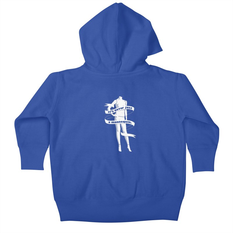 It's Never Just A Mannequin-White Kids Baby Zip-Up Hoody by DRACULAD Shop