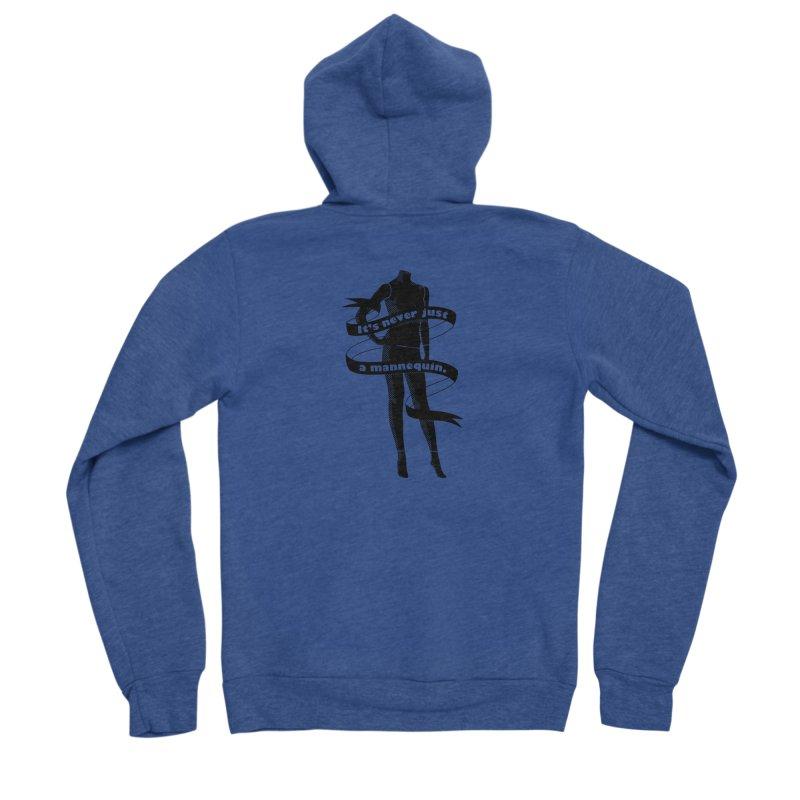 It's Never Just A Mannequin-Black Men's Sponge Fleece Zip-Up Hoody by DRACULAD Shop