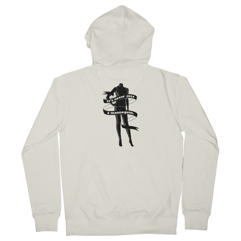 It's Never Just A Mannequin-Black Men's French Terry Zip-Up Hoody by DRACULAD Shop