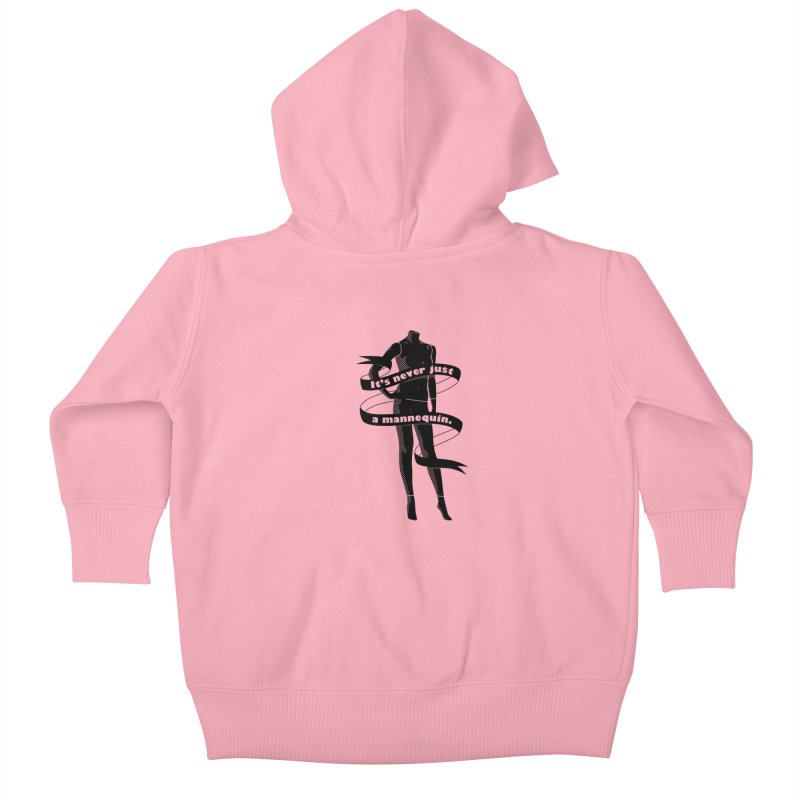It's Never Just A Mannequin-Black Kids Baby Zip-Up Hoody by DRACULAD Shop