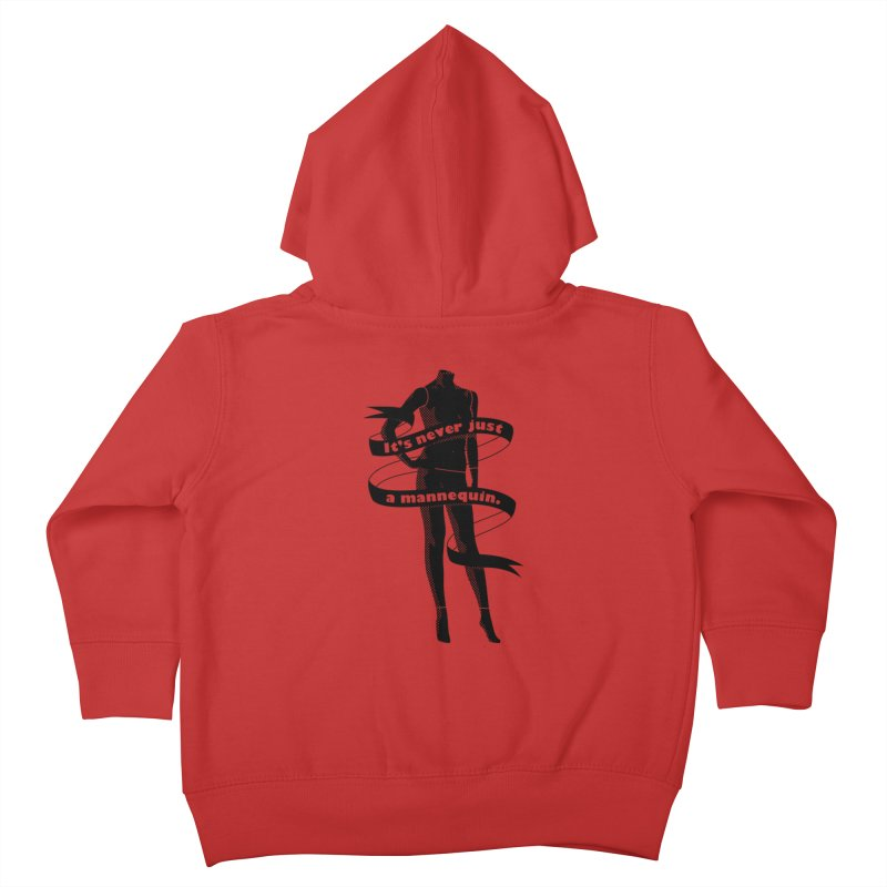 It's Never Just A Mannequin-Black Kids Toddler Zip-Up Hoody by DRACULAD Shop