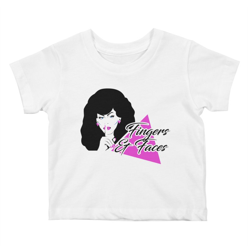 Fingers & Faces Kids Baby T-Shirt by DRACULAD Shop