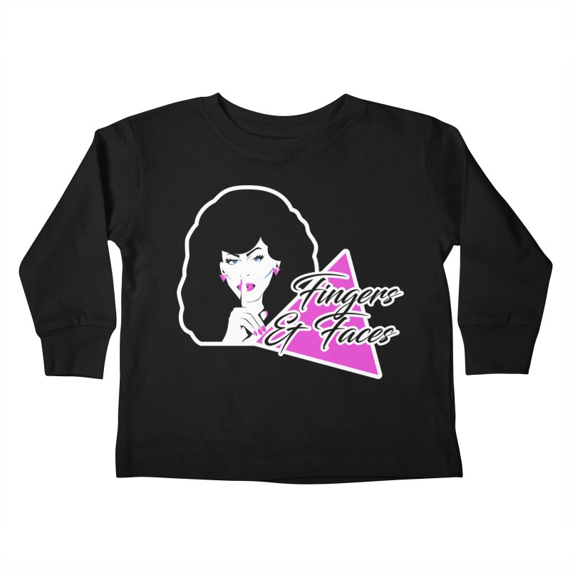 Fingers & Faces Kids Toddler Longsleeve T-Shirt by DRACULAD Shop